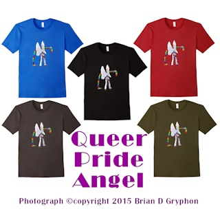 Queer Pride Angel t-shirt