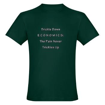 Trickle Down Pain as t-shirt design