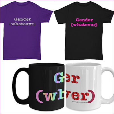 shirts and mugs with Gender (whatever) logotyp