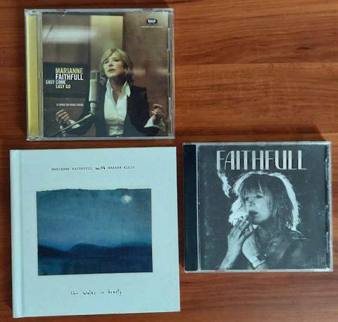 my 3 Marianne Faithfull CDs